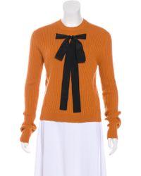 Rochas - Rib Knit Wool-blend Sweater W/ Tags Orange - Lyst