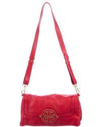 bfad81d65587 Lyst - Tory Burch Amanda Fold Over Messenger Bag - Royal Tan in Brown