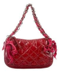 Boutique Moschino - Quilted Patent Leather Shoulder Bag - Lyst