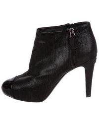 Chanel - Metallic Cap-toe Booties - Lyst
