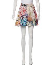 Etro - Silk Printed Shorts Multicolor - Lyst