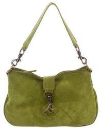 536eecdd4 Miu Miu - Miu Suede Handle Bag Green - Lyst