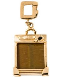 Louis Vuitton - 18k Tiger's Eye Quartz Pendant Yellow - Lyst