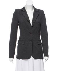 Torn By Ronny Kobo - Notch-lapel Knit Blazer Grey - Lyst