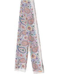 Jil Sander - Multicolor Boteh Print Scarf - Lyst