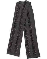 Louis Vuitton - Embellished Wool Scarf Grey - Lyst