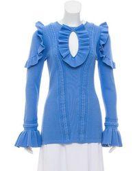Rebecca Vallance - Ruffle-trimmed Knit Top - Lyst