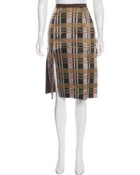 Behnaz Sarafpour - Knee-length Silk Skirt Brown - Lyst