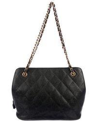 Chanel - Vintage Caviar Shoulder Bag Black - Lyst