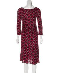 Tory Burch - Printed Ruched Dress - Lyst