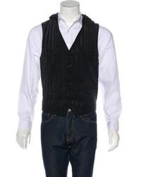 Ann Demeulemeester - Striped Hooded Vest W/ Tags - Lyst