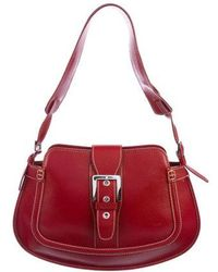 Tod's - Leather Buckle Shoulder Bag Red - Lyst