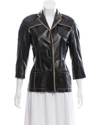Jean Paul Gaultier - Structured Leather Jacket - Lyst