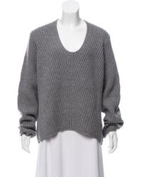 Acne Studios - Deborah Wool Sweater Grey - Lyst