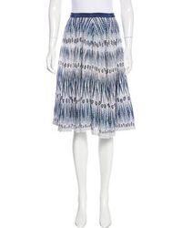 Day Birger et Mikkelsen - Printed Knee-length Skirt Blue - Lyst