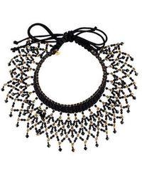 Erickson Beamon - Crystal Woven Collar Necklace Gold - Lyst
