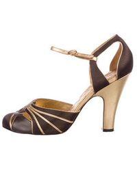 3ddad7ada9e Lyst - Tory Burch Canvas Embellished Slide Sandals Silver in Metallic