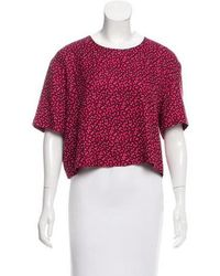 Piamita - Silk Short Sleeve Top - Lyst