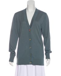 Tory Burch - Simone Button-up Cardigan W/ Tags Blue - Lyst