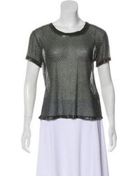 Gryphon - Silk Beaded Top W/ Tags Olive - Lyst