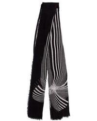 Diane von Furstenberg - Printed Raw-edge Scarf - Lyst