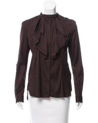 Belstaff - Silk Button-up Top W/ Tags - Lyst