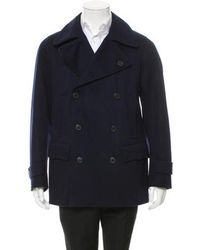 Dries Van Noten - Wool Double-breasted Peacoat W/ Tags Navy - Lyst