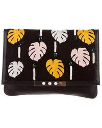 Lizzie Fortunato - Leather Embellished Clutch Black - Lyst