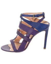 Elie Saab - Leather Caged Sandals - Lyst