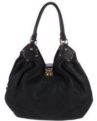 Louis Vuitton - Mahina L Hobo Black - Lyst