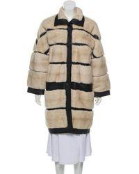 J. Mendel - Leather-trimmed Sheared Fur Coat - Lyst