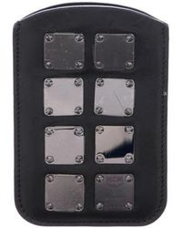 MCM - Embellished Leather Phone Case Black - Lyst