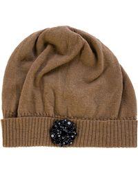 Lanvin - Embellished Knit Beanie - Lyst