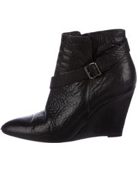Givenchy - Leather Wedge Booties - Lyst