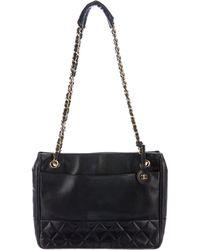 Chanel - Vintage Lambskin Tote Black - Lyst
