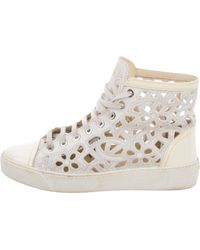 363c8267e13b Chanel - Camelia Laser Cut High-top Sneakers - Lyst