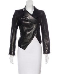 Ann Demeulemeester - Leather Structured Jacket - Lyst
