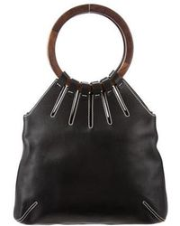 Sergio Rossi - Leather Top Handle Bag - Lyst