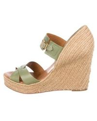 HUNTER - Leather Wedge Sandals - Lyst