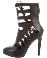 Giuseppe Zanotti - Leather Cutout Ankle Boots - Lyst