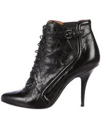 Givenchy - Leather Lace-up Ankle Boots Black - Lyst