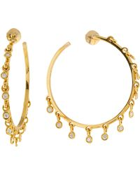 Dior - 18k Coquin Diamond Hoop Earrings Yellow - Lyst
