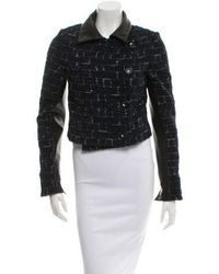 Wes Gordon - Leather-trimmed Jacket W/ Tags - Lyst