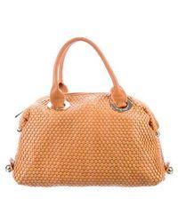 Z Spoke by Zac Posen - Leather Woven Handle Bag Tan - Lyst