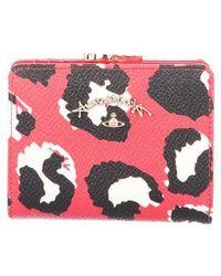 Vivienne Westwood - Animal Print Compact Wallet Red - Lyst