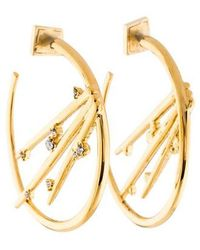 Alexis Bittar - Crystal Thorn Hoop Earrings Gold - Lyst