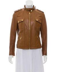 Michael Kors - Moto Leather Jacket - Lyst