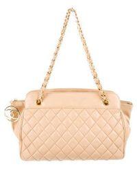 Lyst - Chanel Drawstring Shoulder Bag Gold in Metallic a4e9b7fd9ae49