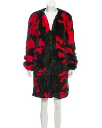 Thakoon - Camo Fur Knit Coat W/ Tags - Lyst