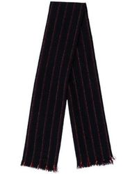 Dior Homme - Striped Scallop-trimmed Scarf Navy - Lyst
